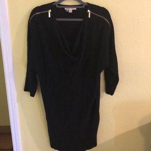 MK Michael kors black gold sweater dress M medium